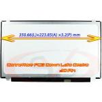 Display Slim LED Compatibile P/N: NT156WHM-N45 | N156BGA-EA3 | 350MM | 30pin