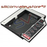 "BAY CADDY PER SECONDO HARD DISK 2,5"" NOTEBOOK HDD SSD DVD Bay 9,5 mm SATA"