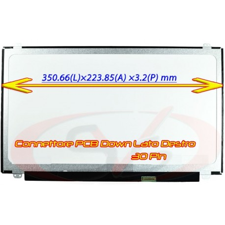 "Display per Notebook Slim LED da 15.6"" 1366*768 - 30pin - NARROW -"