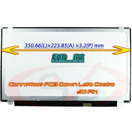 DISPLAY SLIM LED FULL HD COMPATIBILE CON P/N: N156HGA-EA3 Rev C3 NARROW BRACKET